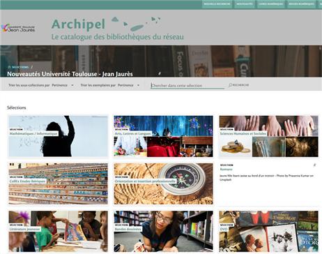 Copie écran de la présentation des nouvelles acquisitions des bibliothèques de l'université sur Archipel