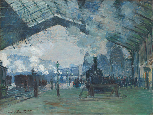 Arrivée du train de Normandie, gare Saint-Lazare, Claude Monet, 1877, Art Institute of Chicago