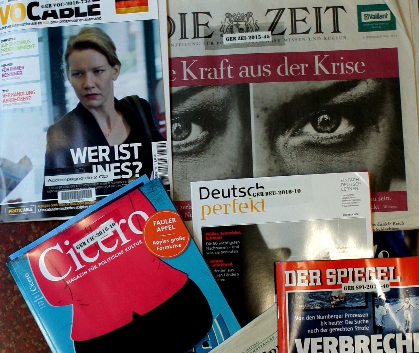 Revues en allemand