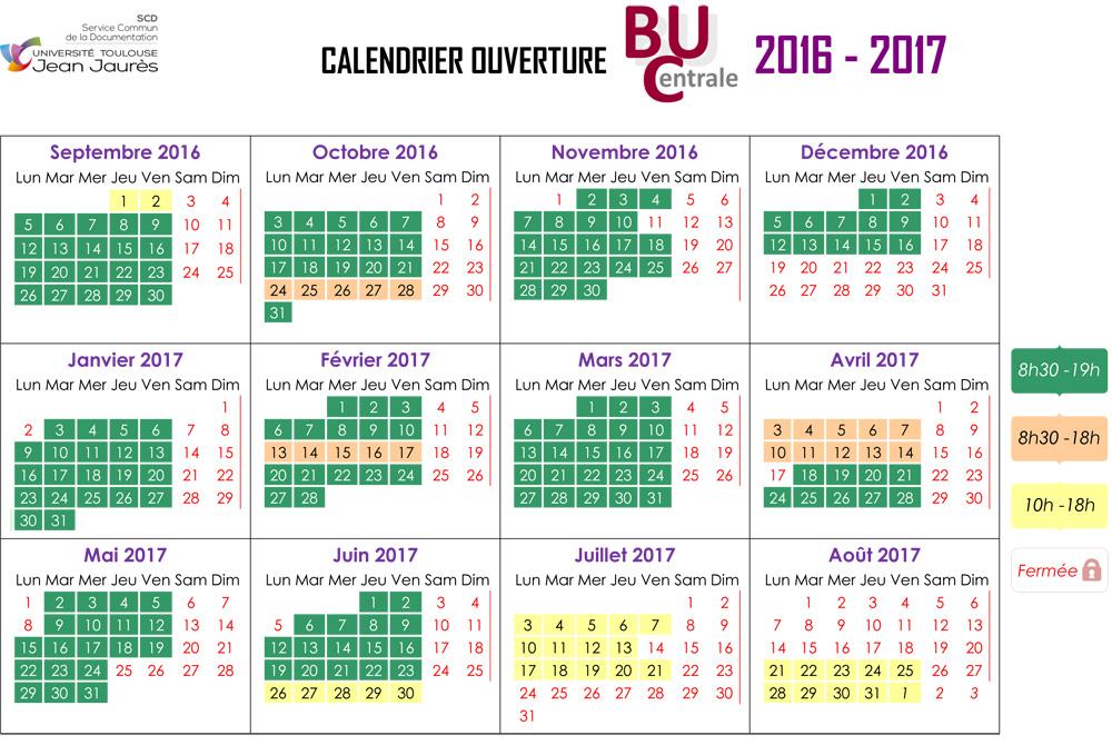 Cliquer pour agrandir l'image du calendrier
