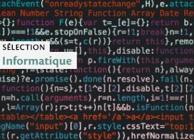 Sélection Informatique - Photo : Code informatique par Markus Spiske