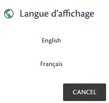 Choisir entre français ou anglais