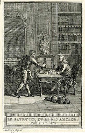 Le savetier et le financier par JB Oudry - Source JocondeLab
