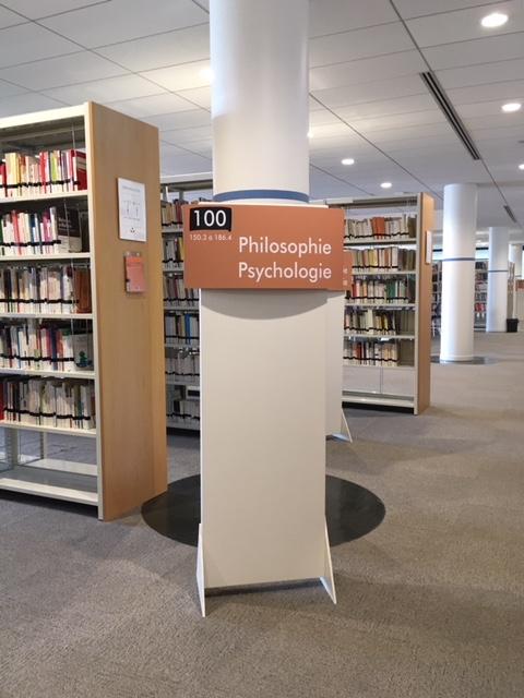 Les livres de Philosophie et Psychologie dans leur nouvelle salle