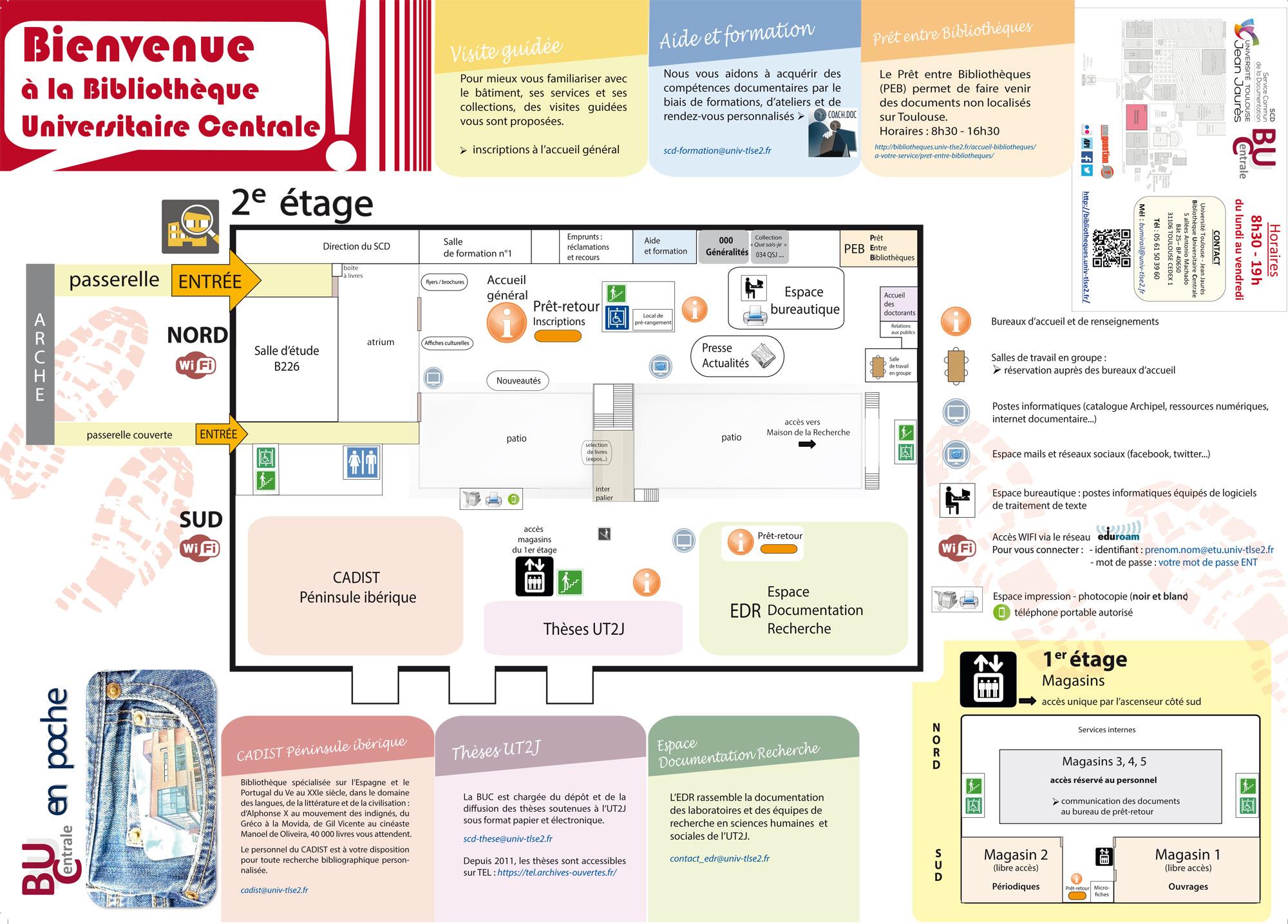 Plan BU centrale 1er et 2e étage