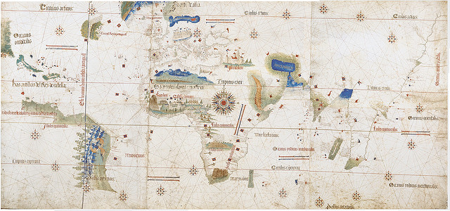 Cantino's Planisphere (1502) par Thomas Barthelet. CC BY. Source : Flickr