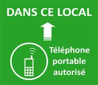 pictogramme : Dans ce local téléphone autorisé